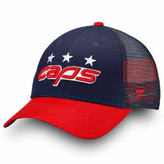 6fc06690675 Men s Washington Capitals Fanatics Branded Navy Red 2018 NHL Stadium Series  Trucker Adjustable Snapback Hat