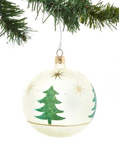Loving this Frosted Glitter Pine Tree Ornament - Set of Six on #zulily! #zulilyfinds