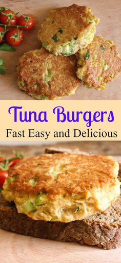Easy, flavorful, crispy tuna burgers!