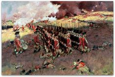 """Painting: """"Battle of Bunker Hill,"""" by Howard Pyle, c. 1897. Source: Wikimedia Commons. Read more on the GenealogyBank blog: """"Nathaniel Hayford's Story – Veteran of the Battle of Bunker Hill."""" https://blog.genealogybank.com/nathaniel-hayfords-story-veteran-of-the-battle-of-bunker-hill.html"""
