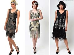 Roaring 20s Halloween Inspiration - Flapper halloween costumes, Gatsby Dresses and 1920s Halloween ideas