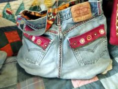 Upcycled Levis jean Bum Bag x