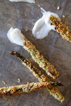 Try this alternative to traditional fries: baked asparagus fries