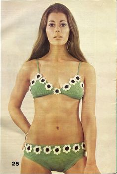 1970s Vintage Crochet Pattern  Flower Power by mBellishKnits, $2.99