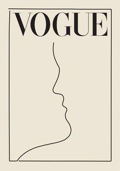 VOGUE LINES POSTER | POSTERFI Poster Retro, Poster Art, Poster Design, Poster Prints, Art Print, Makeup Vintage, Diy Vintage, Vintage Travel, Vintage Men