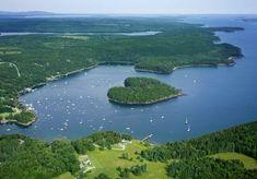 Heart shaped island in Maine