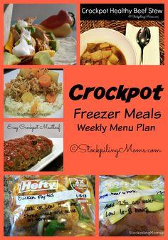 Crockpot Freezer Meals Weekly Menu Plan