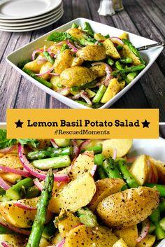 Lemon Basil Potato Salad - a summery potato salad made with Tasteful Selections honey gold potatoes and a homemade lemon basil vinaigrette. Side Dishes Easy, Side Dish Recipes, Healthy Vegetable Recipes, Vegetable Carbs, Vegetarian Recipes, Farmers Market Recipes, Lemon Potatoes, Main Dish Salads, How To Cook Potatoes