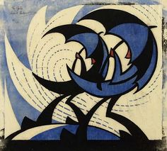 View The Gale by Sybil Andrews on artnet. Browse upcoming and past auction lots by Sybil Andrews. Linocut Prints, Poster Prints, Sybil Andrews, School Exhibition, Blue Umbrella, Umbrella Art, Parasols, Art Prints For Sale, Illustrations