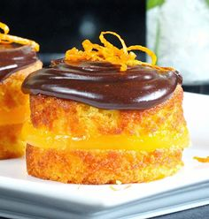 Gluten Free Alchemist: Posh Jaffa Cakes- homemade clementine jelly sandwiched between moist flourless orange-almond sponge, slathered in chocolate ganache. Full recipe