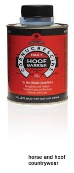 Carr Day Martin Cornucrescine Daily Hoof Barrier Advanced breathable formula creates one way barrier to protect against excessive absorption of water