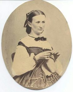 1860s knitting - Notice her Swiss bodice too!