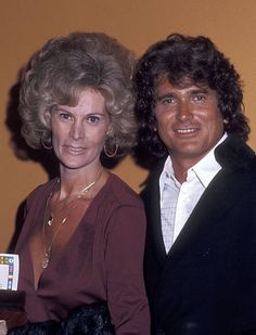 Actor Michael Landon and wife Lynn Noe attend the Hollywood Radio and Television Society's Annual International Broadcasting Awards on March Michael Landon, Victor French, James Drury, Hollywood Icons, Anne Of Green Gables, Sound Of Music, Beautiful Couple, Actors & Actresses, Famous People