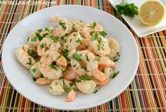 Lemon and Garlic Roasted Shrimp ~ For the Love of Cooking