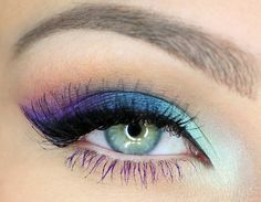 Beautiful multicolored eye look     Keywords: #peacockweddings #jevelweddingplanning Follow Us: www.jevelweddingplanning.com  www.facebook.com/jevelweddingplanning/