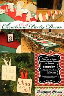 Christmas Party Decor - Ward ideas too