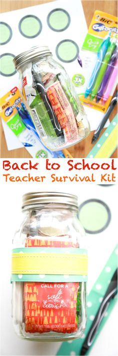Love this idea! As your child heads back to school, prepare a Back to School Teacher Survival Kit for their teacher! via @simplymommy
