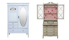 A Hips Retrô restaura móveis garimpados por Helena e trazidos por clientes. O projeto de customização do mobiliário é combinado entre a artesã e os clientes