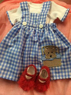 Newborn Dorothy Wizard of Oz costume dress with by NeesyGee, $45.00