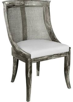 Morel French Country Limed Gray Curved Cane Side Chair - Google Search