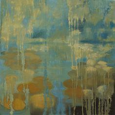 "A new piece of mine: ""Cascade"", oil on canvas, 24"" x 24"", 2012."