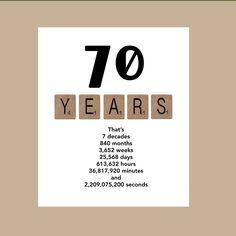 70th Birthday Card Milestone Birthday Card The by DaizyBlueDesigns