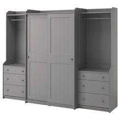 Sliding Wardrobe Doors, Sliding Doors, Pax Corner Wardrobe, Ikea Wardrobe Closet, Closets, Tall Cabinet Storage, Locker Storage, Ikea Family, Painted Drawers