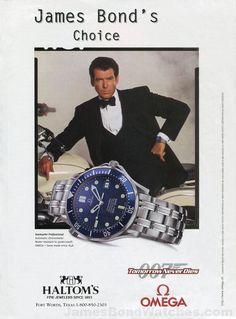 Omega James Bond Watch Ad Tomorrow Never Dies Pierce Brosnan