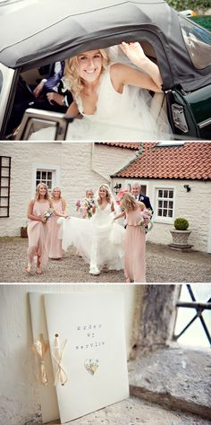 Bride and bridesmaids are lovely!