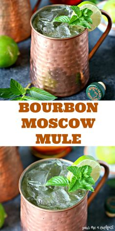 Bourbon Moscow Mule Bourbon Moscow Mule,Cocktails The Bourbon Moscow Mule is a bourbon lover's twist on the Classic Moscow Mule, and has also been referred to as a Kentucky Mule. Bourbon Cocktails, Whiskey Mixed Drinks, Best Bourbon Whiskey, Whiskey Cake, Whiskey Smash, Whiskey Room, Cinnamon Whiskey, Fireball Whiskey, Whiskey Girl