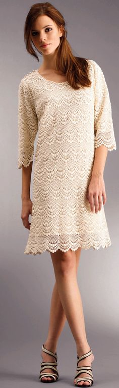 "Crochet dress with diagram - This is for advanced level, very detailed. }}{{ I'm going to hide this from my daughter, because she will added to her ""I list""."