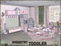 Sims 4 CC's - The Best: Toddler Room Industry by BuffSumm