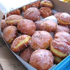 Polish Bismarcks or Doughnuts Recipe - Paczki    (These are so dang good, that you will just not be able to stop, and when they are gone, your belly aching, and your blood full of sugar and fat, you will STILL crave these!)