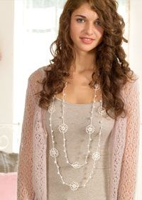 Beaded crochet necklace and other necklaces to crochet