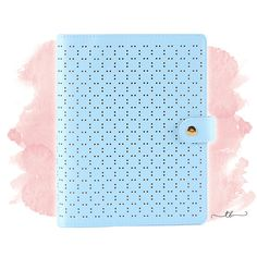 Planner binder A6/personal perforated in pastel blue at TanyaBrittany shop