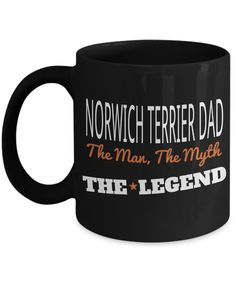 Dad Norwich Terrier Mug-Norwich Terrier Gift-Norwich Terrier Dad
