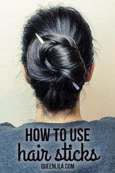 TUTORIAL: How to use hair sticks! - Queen Lila-royalty crafts