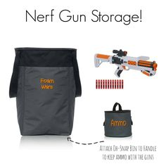 Nerf Gun and ammo storage! Clean-up will be easy and fun!
