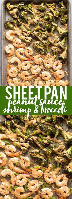 Sheet Pan Peanut Sauce Shrimp and Broccoli | Sheet Pan Dinner | Peanut Sauce Shrimp and Broccoli | Easy Recipe | Quick Dinner Recipe