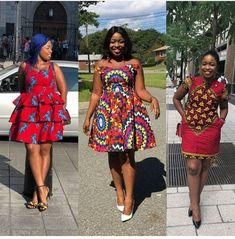 Custom Order: Ankara Outfit, Ankara Dress, African dress, African wax prints, Af… Remilekun - African Styles for Ladies Short African Dresses, Ankara Short Gown Styles, African Wedding Dress, Short Gowns, African Print Dresses, African Fashion Dresses, African Outfits, Fashion Outfits, African Prints