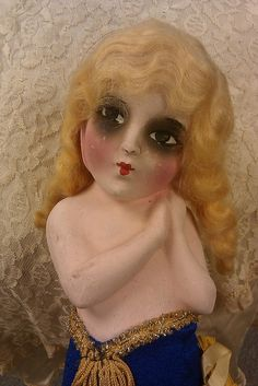 chalkware 1920s carnival doll