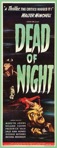Dead of Night (1945) An architect senses impending doom as his half-remembered recurring dream turns into reality. The guests at the country house encourage him to stay as they take turns telling supernatural tales. http://www.imdb.com/title/tt0037635