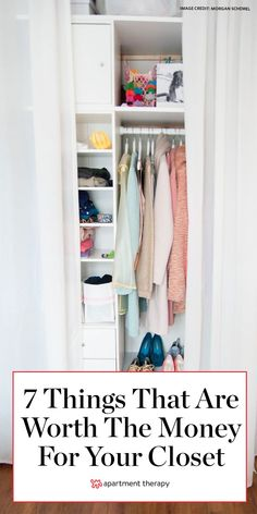 Home experts say these 7 things are always worth the extra money fo your closet. #closet #closetorganization #closethacks #closetideas #organizingideas #storageideas