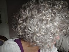 CURLY gray hair