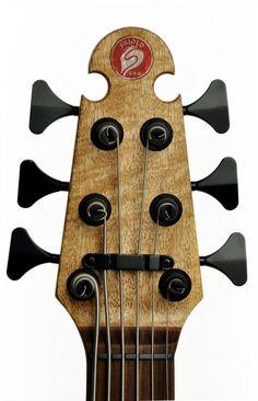 """Skjold Design Guitars 6-string bass headstock... like the string """"tree"""""""
