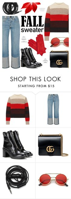 """""""Fall Sweater"""" by alexandrazeres ❤ liked on Polyvore featuring rag & bone, Gucci, Urbanears, ZeroUV, Gizelle Renee, fashionset and fallsweaters"""