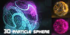 3D+Particle+Sphere+Logo+Reveal
