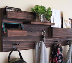 beautiful wooden entryway shelf