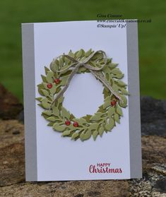 Emerald kreations - Gina Connor Northern Ireland Independent Stampin' Up Demonstrator Christmas Globes, Christmas Wreaths, Holiday Cards, Christmas Cards, Christmas 2019, Christmas Ideas, Stampin Up Christmas, Handmade Christmas, Stampinup