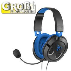 d2022a4c2c5 TURTLE BEACH Ear Force Recon 60P Gaming-Headset Schwarz/Blau PS4, PS3 NEU